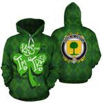 O'Boyle Family Crest Ireland St Patrick's Day National Tartan Kiss Me I'm Irish
