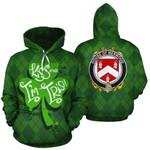 Merwood Family Crest Ireland St Patrick's Day National Tartan Kiss Me I'm Irish