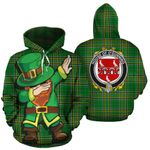 O'Gunning Family Crest Ireland Dabbing St Patrick's Day National Tartan
