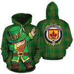 Freeney Family Crest Ireland Dabbing St Patrick's Day National Tartan