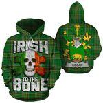 Rogan Family Crest Ireland National Tartan Irish To The Bone Hoodie