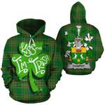 Dunphy Family Crest Ireland National Tartan Kiss Me I'm Irish Hoodie