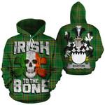Burton Family Crest Ireland National Tartan Irish To The Bone Hoodie