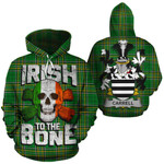 Carrell Family Crest Ireland National Tartan Irish To The Bone Hoodie