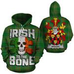 Wiggat Family Crest Ireland National Tartan Irish To The Bone Hoodie