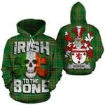 Bergin Family Crest Ireland National Tartan Irish To The Bone Hoodie