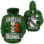 Ushburne Family Crest Ireland National Tartan Irish To The Bone Hoodie