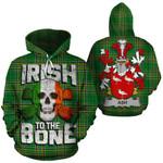 Ash Family Crest Ireland National Tartan Irish To The Bone Hoodie