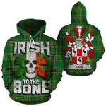 Tate Family Crest Ireland National Tartan Irish To The Bone Hoodie