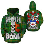 Trench Family Crest Ireland National Tartan Irish To The Bone Hoodie
