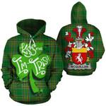 McQuillan Family Crest Ireland National Tartan Kiss Me I'm Irish Hoodie
