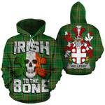 Wellesby Family Crest Ireland National Tartan Irish To The Bone Hoodie