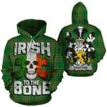 Grattan Family Crest Ireland National Tartan Irish To The Bone Hoodie