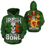 Gould Family Crest Ireland National Tartan Irish To The Bone Hoodie