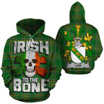 Low Family Crest Ireland National Tartan Irish To The Bone Hoodie