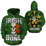 Kielty Family Crest Ireland National Tartan Irish To The Bone Hoodie