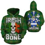 Alleet Family Crest Ireland National Tartan Irish To The Bone Hoodie