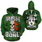 Denn Family Crest Ireland National Tartan Irish To The Bone Hoodie