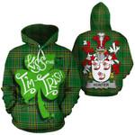 Hunter Family Crest Ireland National Tartan Kiss Me I'm Irish Hoodie