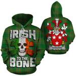 Hansard Family Crest Ireland National Tartan Irish To The Bone Hoodie
