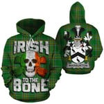Warburton Family Crest Ireland National Tartan Irish To The Bone Hoodie