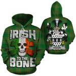 Higgin Family Crest Ireland National Tartan Irish To The Bone Hoodie
