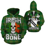 Ashborne Family Crest Ireland National Tartan Irish To The Bone Hoodie