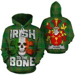 Adams Family Crest Ireland National Tartan Irish To The Bone Hoodie