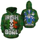 Cotter Family Crest Ireland National Tartan Irish To The Bone Hoodie