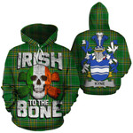 Kyne Family Crest Ireland National Tartan Irish To The Bone Hoodie
