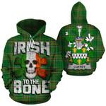 Coffey Family Crest Ireland National Tartan Irish To The Bone Hoodie
