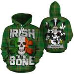 Mervyn Family Crest Ireland National Tartan Irish To The Bone Hoodie