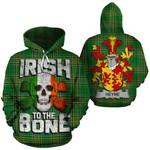 Heyne Family Crest Ireland National Tartan Irish To The Bone Hoodie