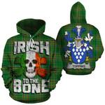 Topping Family Crest Ireland National Tartan Irish To The Bone Hoodie