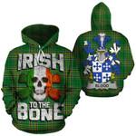 Blood Family Crest Ireland National Tartan Irish To The Bone Hoodie