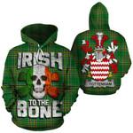 Tottenham Family Crest Ireland National Tartan Irish To The Bone Hoodie