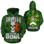 Kildahl Family Crest Ireland National Tartan Irish To The Bone Hoodie