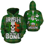Hanlon Family Crest Ireland National Tartan Irish To The Bone Hoodie