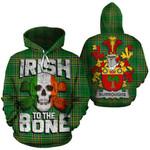 Burroughs Family Crest Ireland National Tartan Irish To The Bone Hoodie