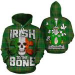 Loughnan Family Crest Ireland National Tartan Irish To The Bone Hoodie