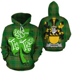 Owgan Family Crest Ireland National Tartan Kiss Me I'm Irish Hoodie