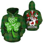 Tennent Family Crest Ireland National Tartan Kiss Me I'm Irish Hoodie