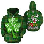 Conroy Green Family Crest Ireland National Tartan Kiss Me I'm Irish Hoodie