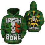 West Family Crest Ireland National Tartan Irish To The Bone Hoodie
