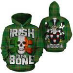 Woodford Family Crest Ireland National Tartan Irish To The Bone Hoodie