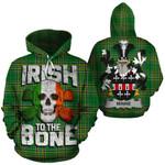 Minne Family Crest Ireland National Tartan Irish To The Bone Hoodie