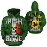 Ewers Family Crest Ireland National Tartan Irish To The Bone Hoodie