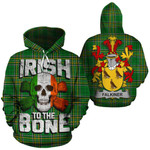 Falkiner Family Crest Ireland National Tartan Irish To The Bone Hoodie