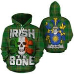 Cleare Family Crest Ireland National Tartan Irish To The Bone Hoodie