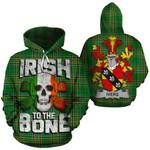 Ivers Family Crest Ireland National Tartan Irish To The Bone Hoodie